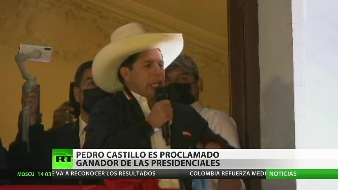 Perú: Pedro Castillo es proclamado ganador de las elecciones presidenciales