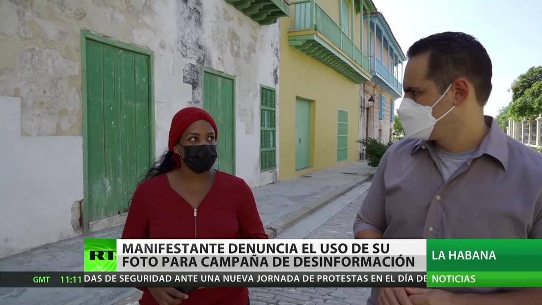 Cuba: Una manifestante denuncia el uso de su foto para una campaña de desinformación