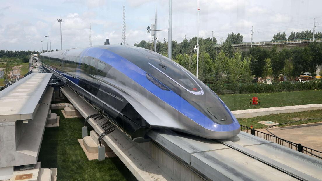 VIDEO: China estrena su nuevo tren tipo maglev capaz de alcanzar 600 kilómetros por hora