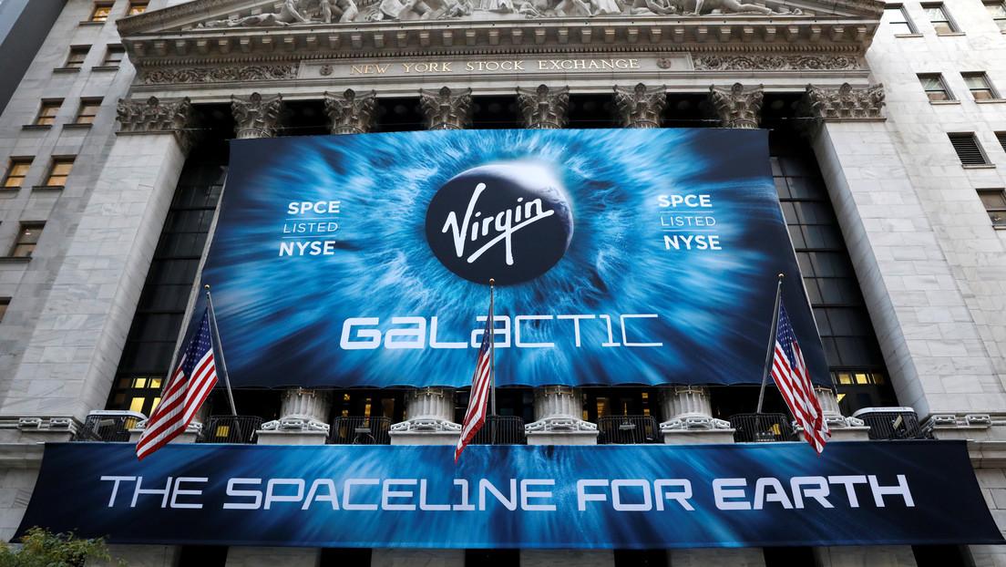 Se desploman las acciones de Virgin Galactic tras el exitoso aterrizaje de la cápsula de Jeff Bezos