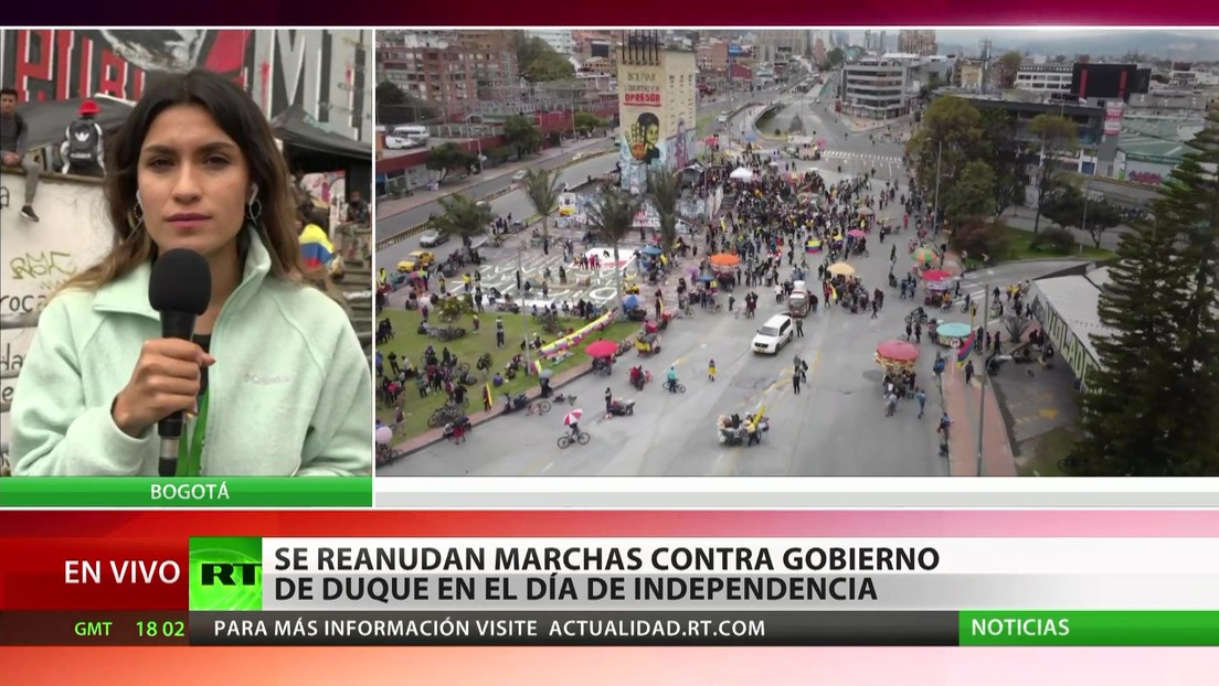 Se reanudan marchas contra el Gobierno de Duque en el Día de la Independencia