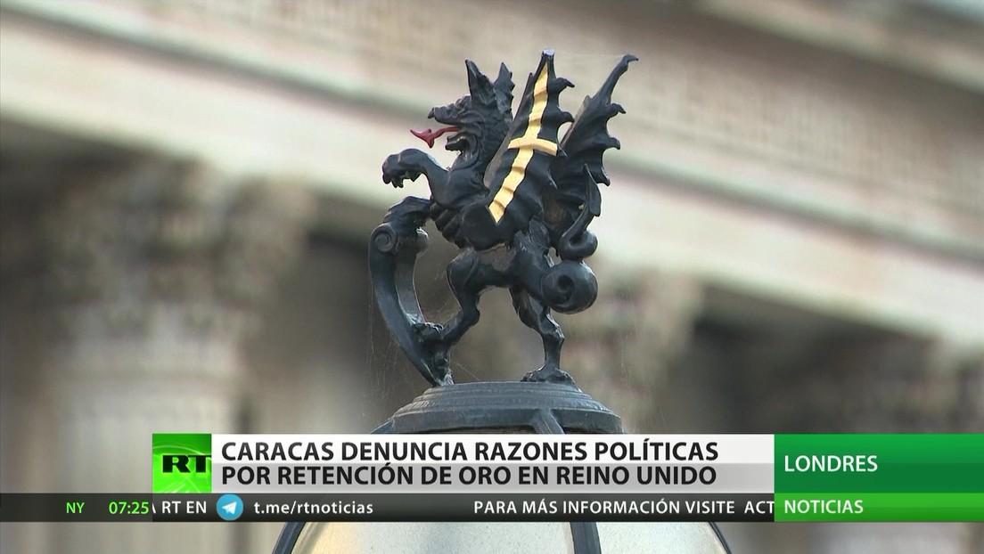 Caracas denuncia razones políticas detrás de la retención del oro en Reino Unido