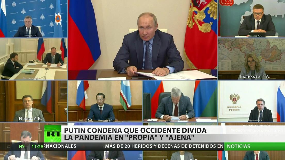 """Putin reprocha a Occidente por dividir a la pandemia en """"propia"""" y """"ajena"""""""