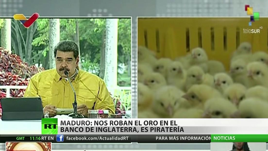 """Maduro califica la retención del oro venezolano por parte de Londres como """"piratería del siglo 21"""""""