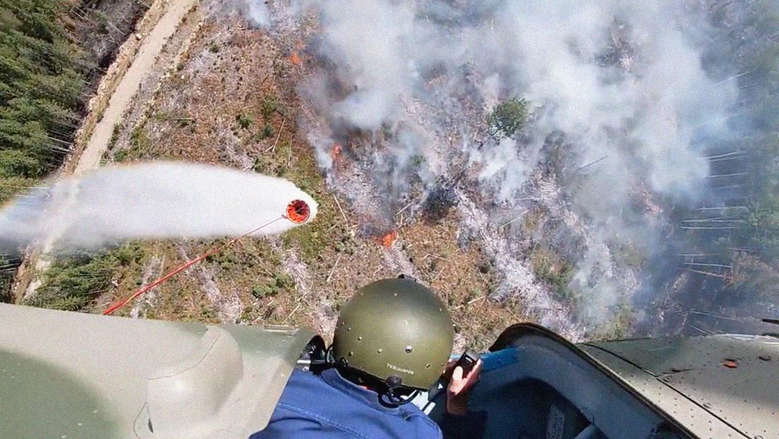 VIDEO, FOTOS: Los incendios devoran la región rusa de Carelia