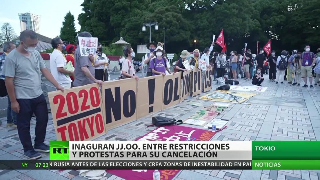 Inauguran las Olimpiadas en medio de restricciones y protestas para su cancelación