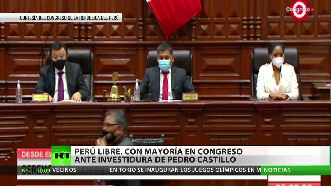 Perú: El partido de Pedro Castillo, con mayoría en el Congreso ante su investidura