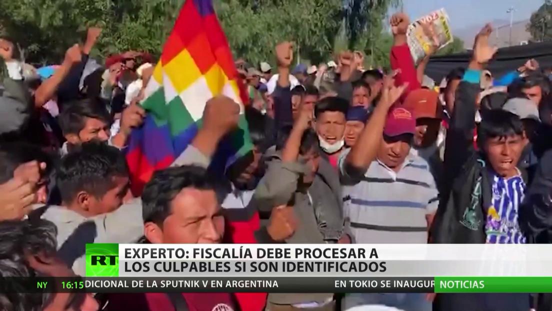 Experto: La Fiscalía boliviana debe procesar a los responsables por las masacres en Sacaba y Senkata si son identificados