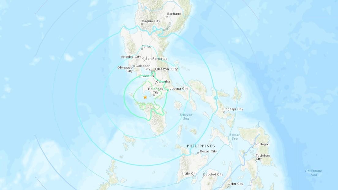 Se produce un terremoto de magnitud 6,7 frente a las costas de Filipinas