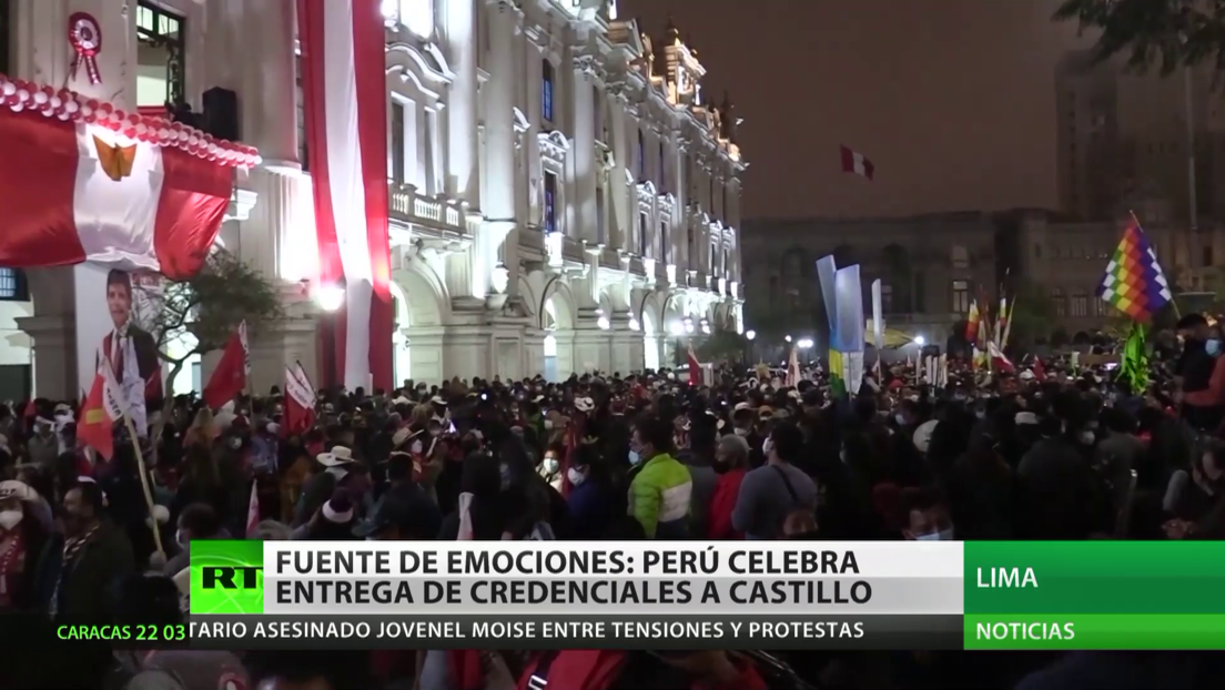 Fuente de emociones: Perú celebra entrega de credenciales a Pedro Castillo