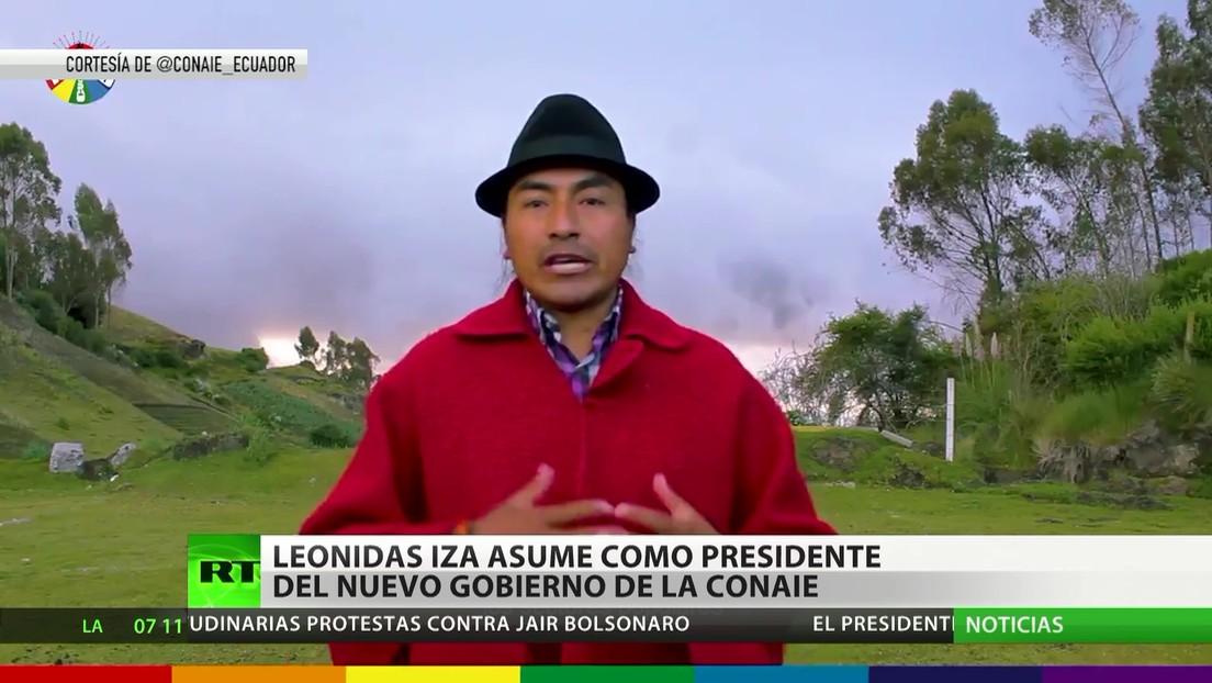 Leonídas Iza asume la presidencia de la Conaie