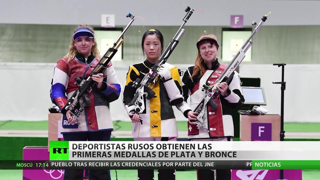 Deportistas rusos ganan las primeras medallas de plata  y bronce en los JJ.OO.