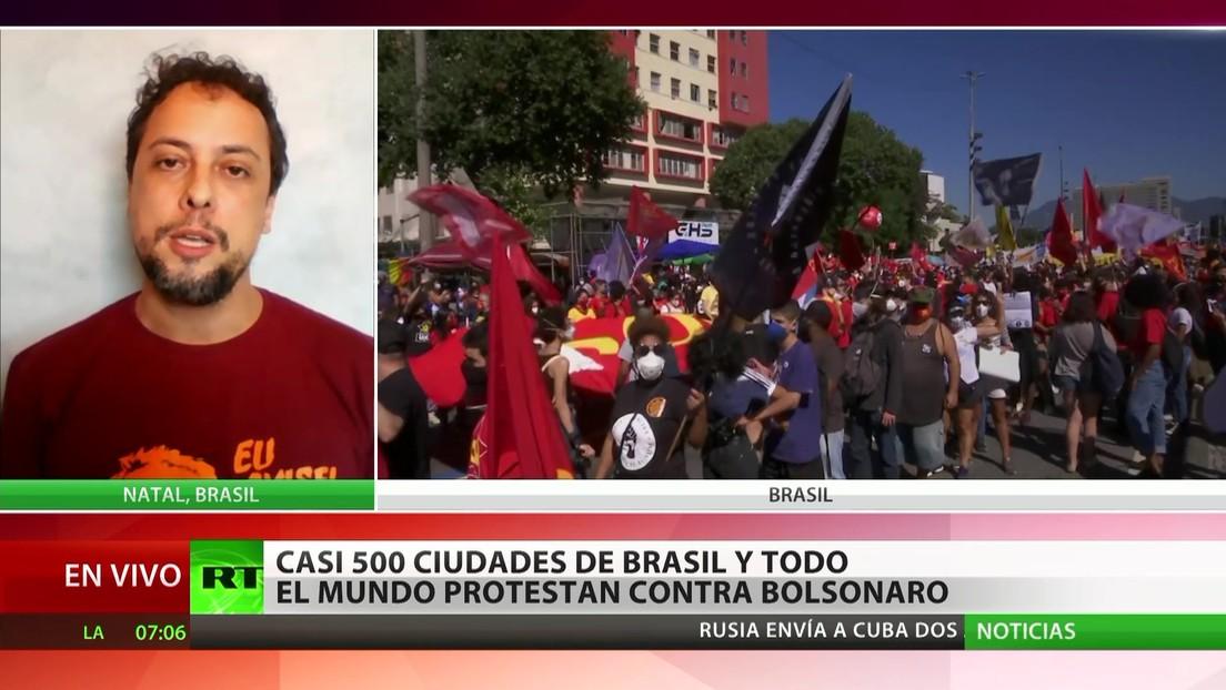 Casi 500 ciudades de Brasil y de todo el mundo protestan contra Jair Bolsonaro