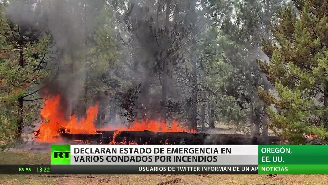 EE.UU.: Declaran el estado de emergencia en varios condados por incendios forestales