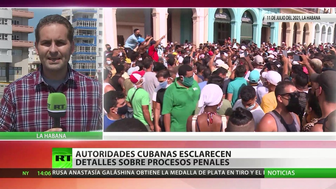 Autoridades cubanas esclarecen detalles sobre procesos penales tras las protestas
