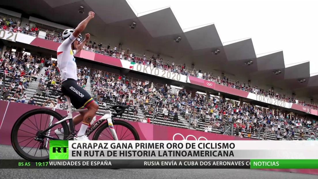 El ecuatoriano Richard Carapaz gana el primer oro olímpico de ciclismo en ruta de la historia latinoamericana