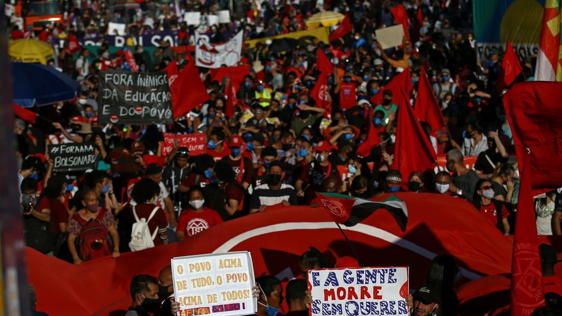 Miles de brasileños vuelven a las calles para exigir la destitución de Bolsonaro (FOTOS, VIDEOS)