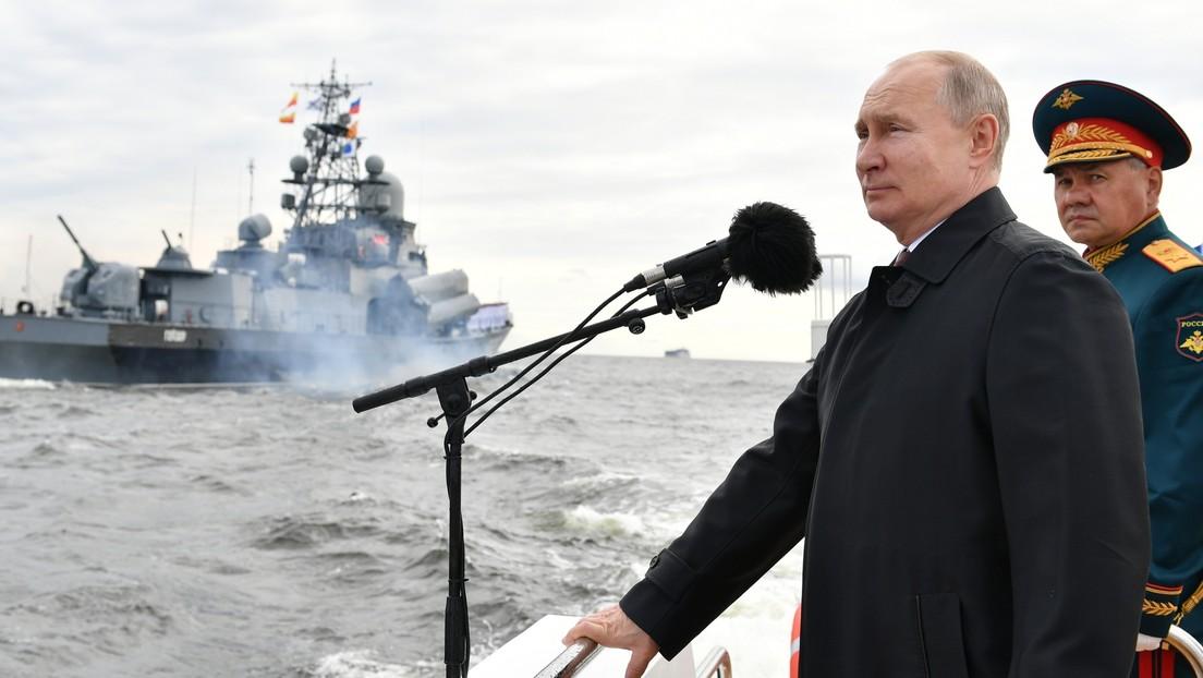 """Putin: La Armada rusa puede """"localizar y dar un golpe militar a cualquier adversario"""""""