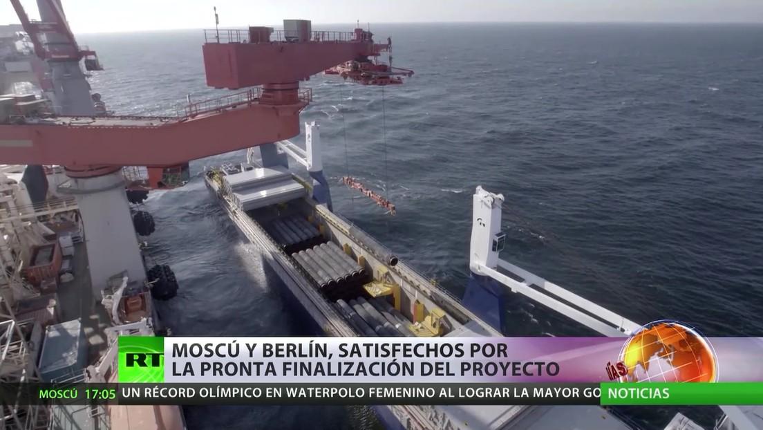 Moscú y Berlín muestran su satisfacción por la próxima finalización del Nord Stream 2