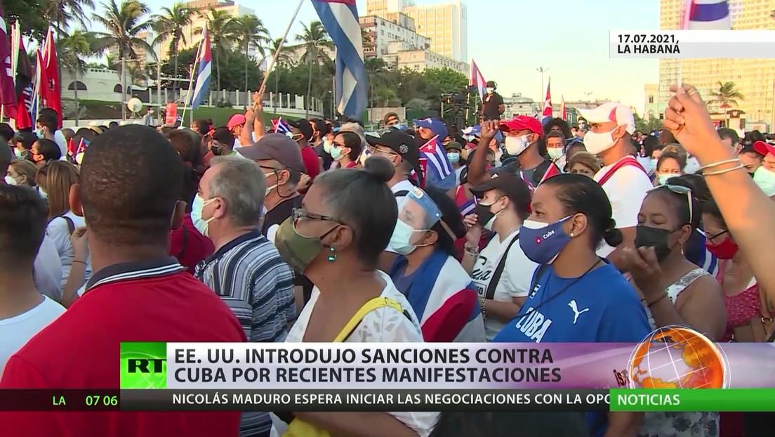"""Cuba rechaza las sanciones estadounidenses por presuntos """"abusos contra manifestantes"""" durante las protestas"""