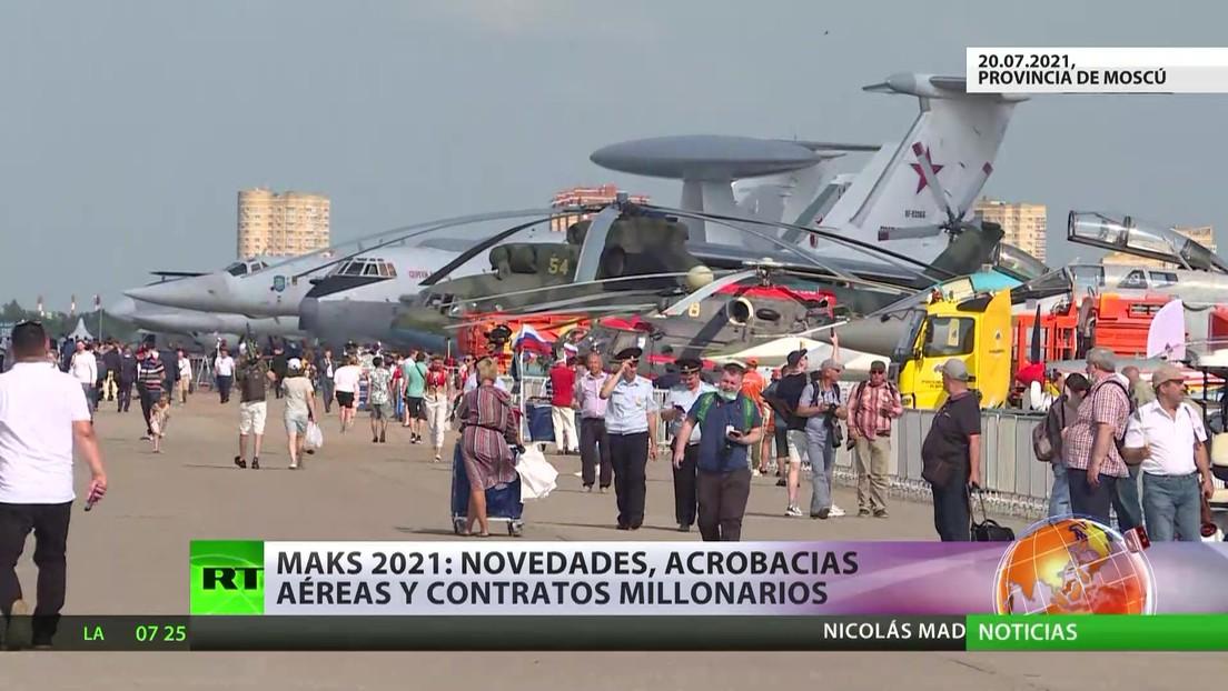 MAKS 2021: Novedades, acrobacias aéreas y contratos millonarios