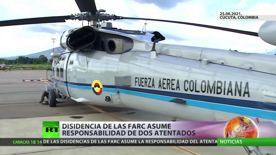 Disidencia de las FARC asume responsabilidad de dos atentados