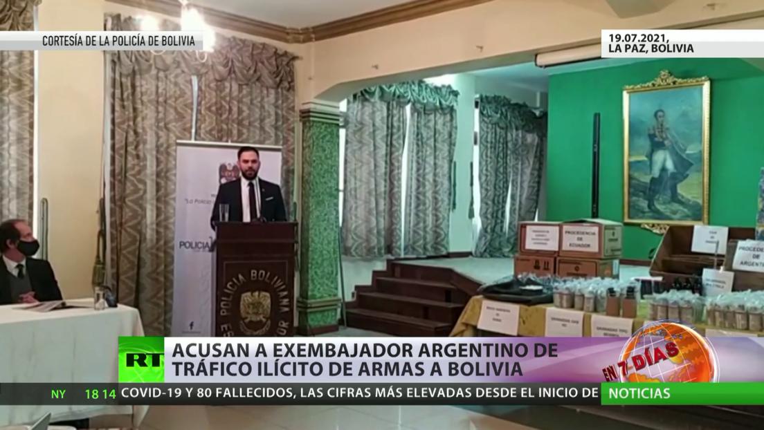 Acusan a exembajador argentino de tráfico ilícito de armas a Bolivia