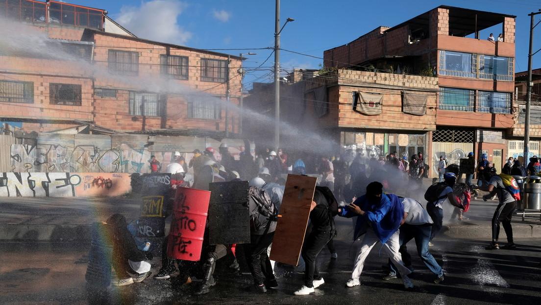 Policía colombiana detiene a 134 miembros de la 'primera línea' por violencia y vandalismo en las protestas