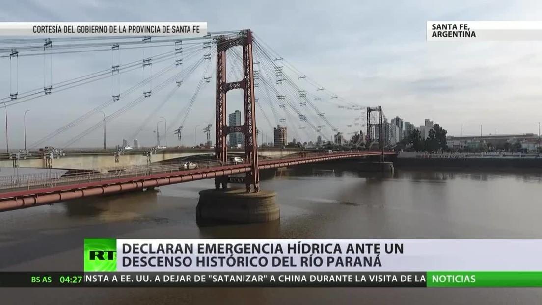 Declaran emergencia hídrica ante un descenso histórico del río Paraná