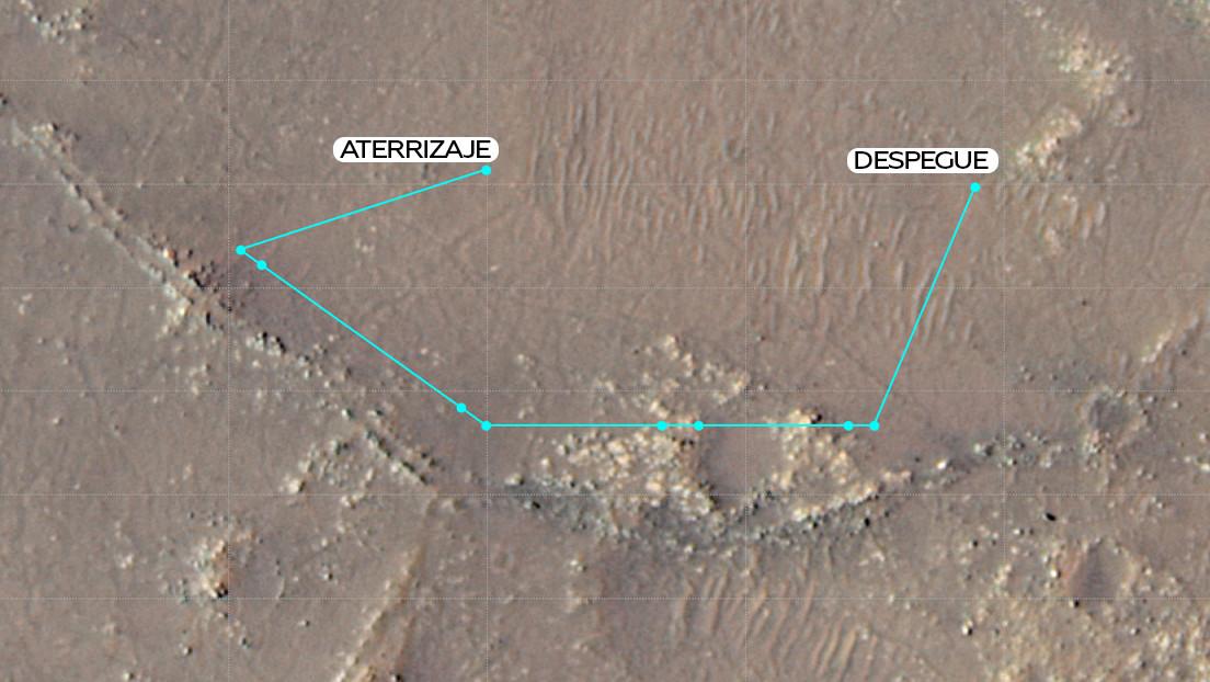 El minihelicóptero Ingenuity de la NASA completa su décimo vuelo, el de mayor altitud, sobre Marte