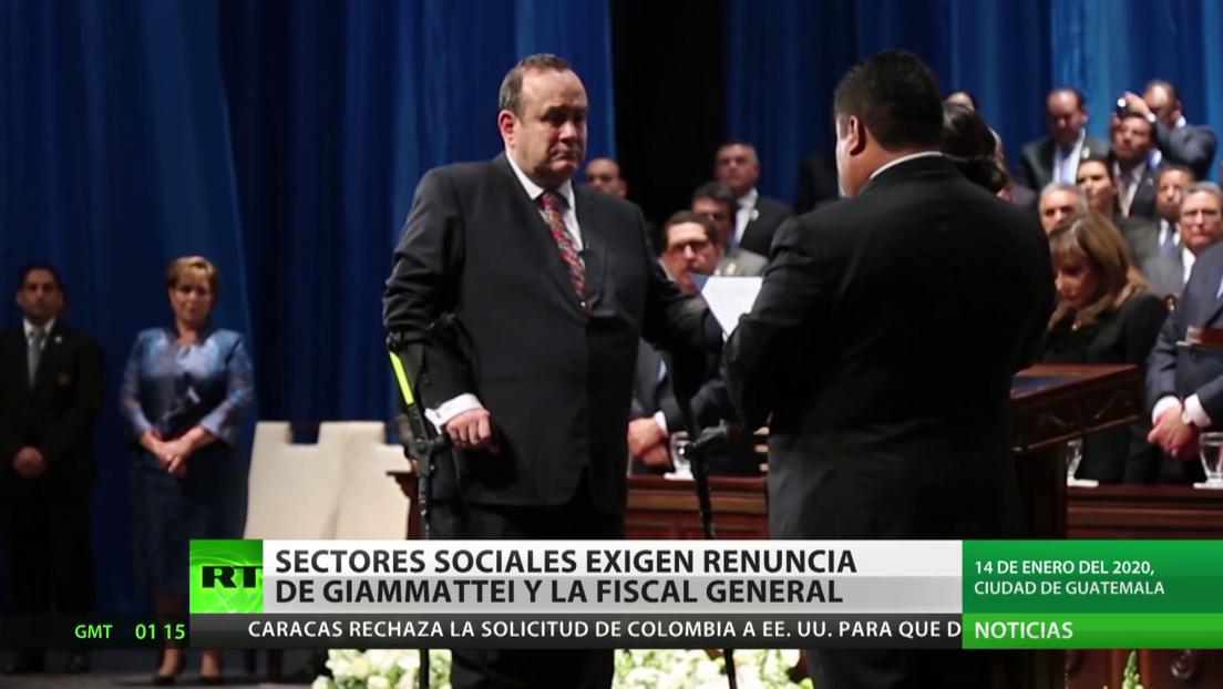 Guatemala: Sectores sociales exigen la renuncia de Giammattei y la fiscal general