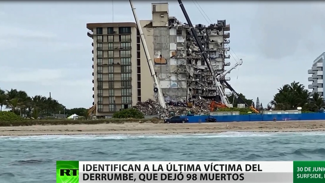 Identifican a la última víctima del derrumbe del edificio residencial en Florida