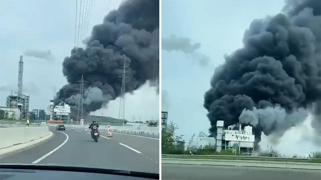 Registran una explosión en las instalaciones de un complejo industrial químico en Alemania (VIDEO)