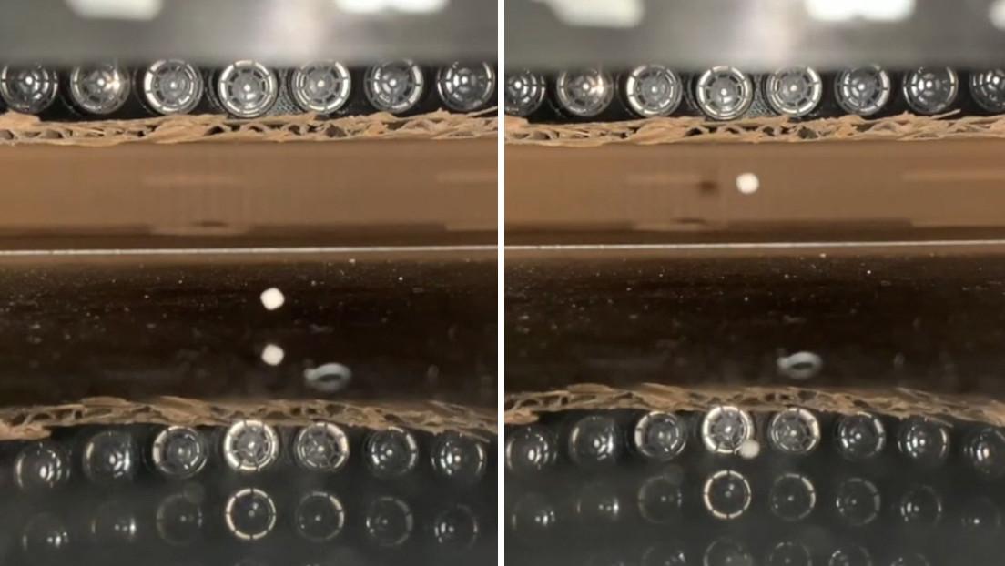 VIDEO: Investigadores japoneses crean unas 'pinzas de sonido' capaces de mover objetos sin contacto físico