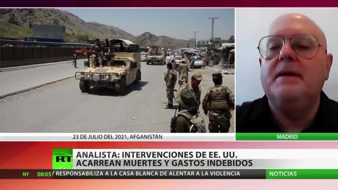 EE.UU. restringe vuelos en Afganistán ante el avance de los talibanes