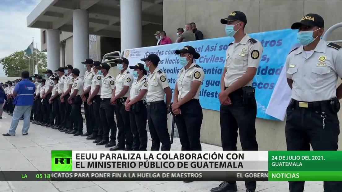 EE.UU. suspende temporalmente la cooperación con la Fiscalía de Guatemala