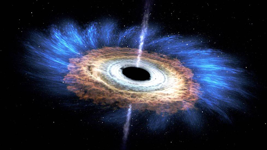 Por primera vez detectan luz procedente de detrás de un agujero negro supermasivo