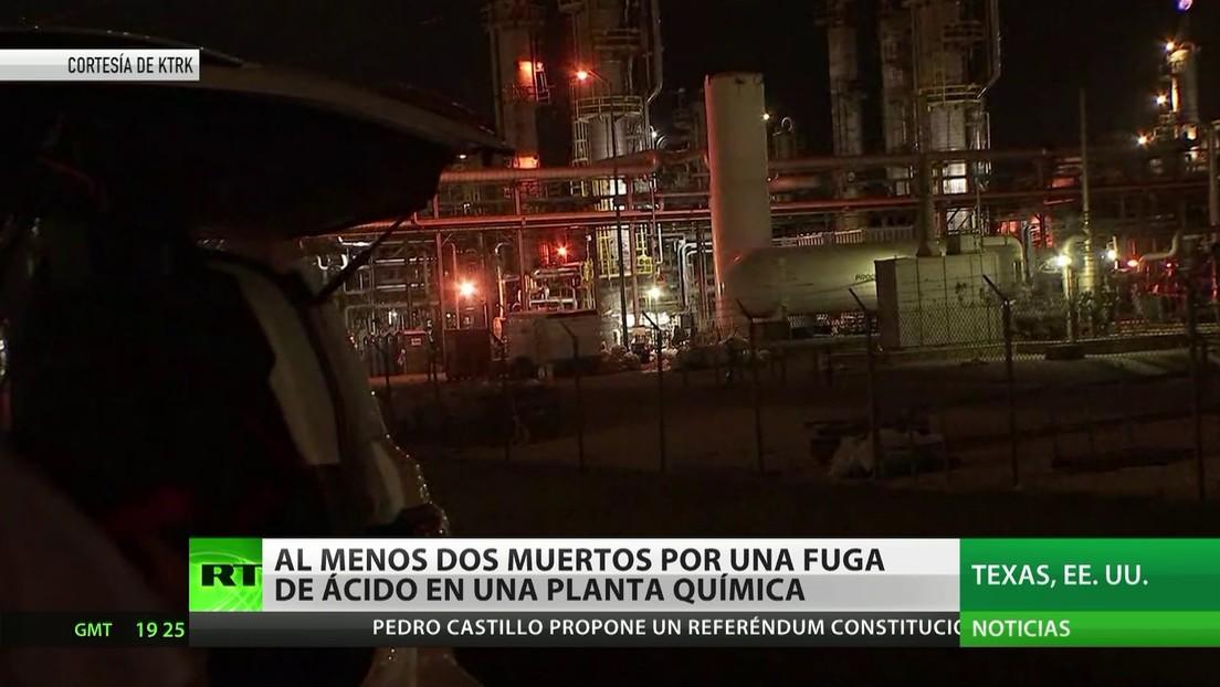Al menos 2 muertos por una fuga de ácido en una planta química de Texas
