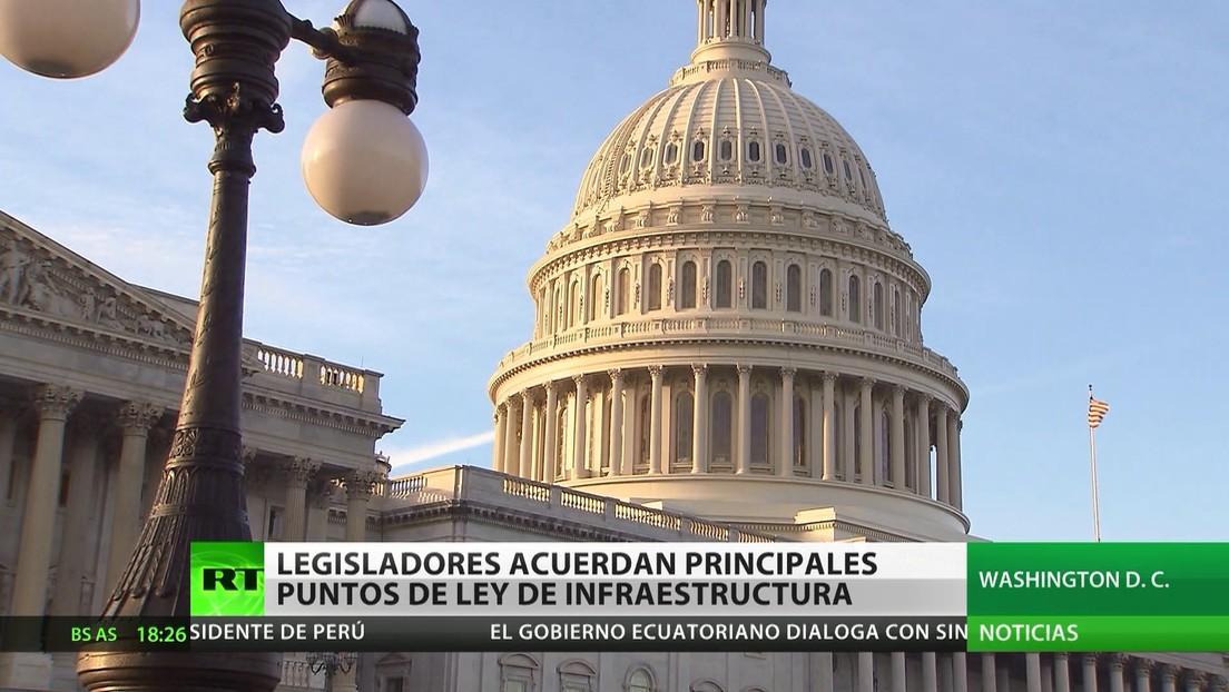 Legisladores estadounidenses acuerdan principales puntos de la ley de infraestructura