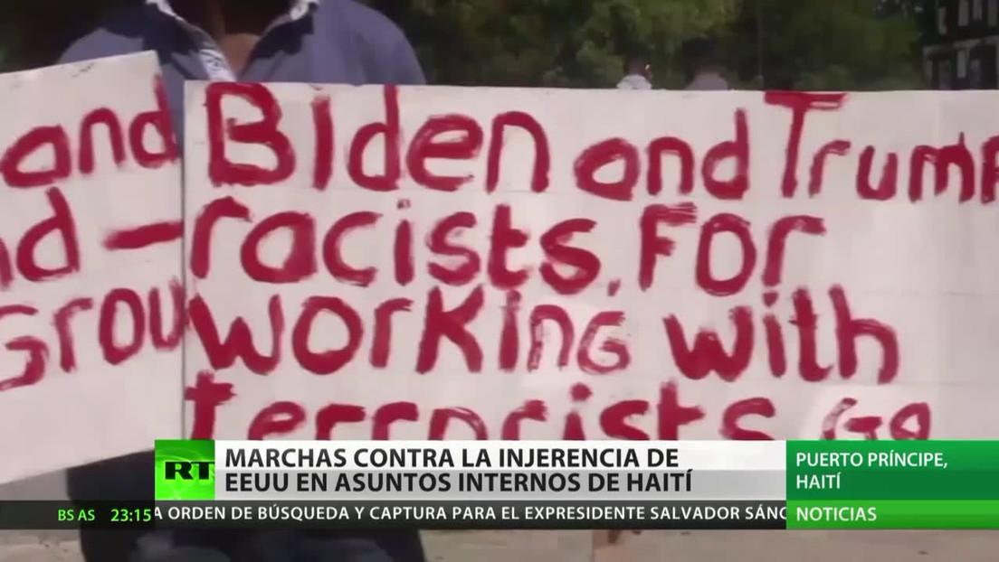 Marchas contra la injerencia de EE.UU. en asuntos internos de Haití