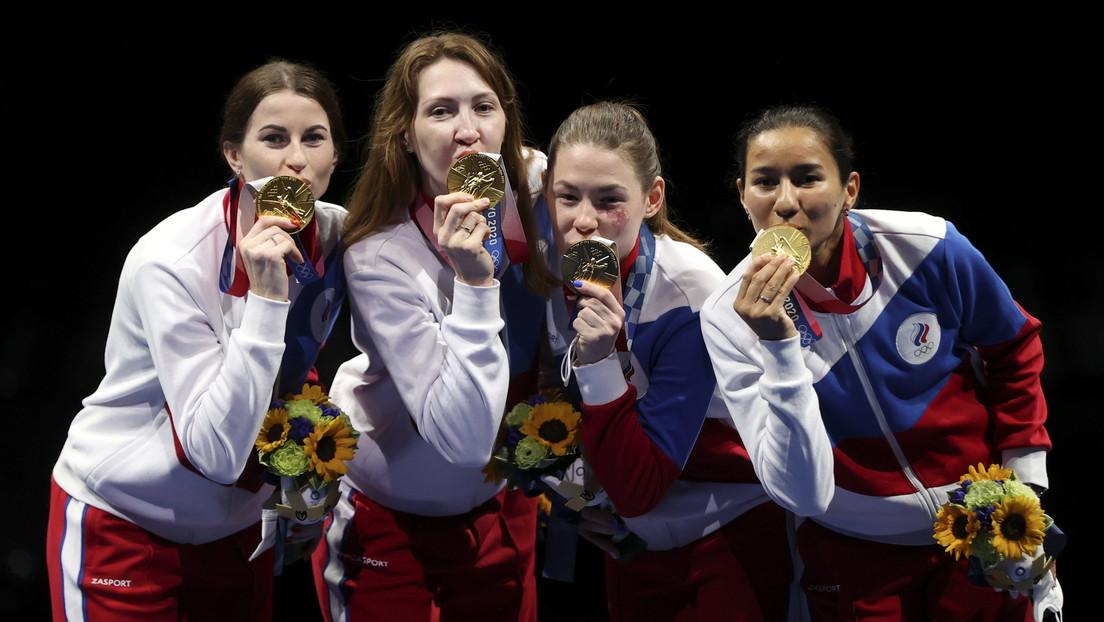 Las esgrimistas rusas ganan el oro en la competición por equipos en los JJ.OO de Tokio