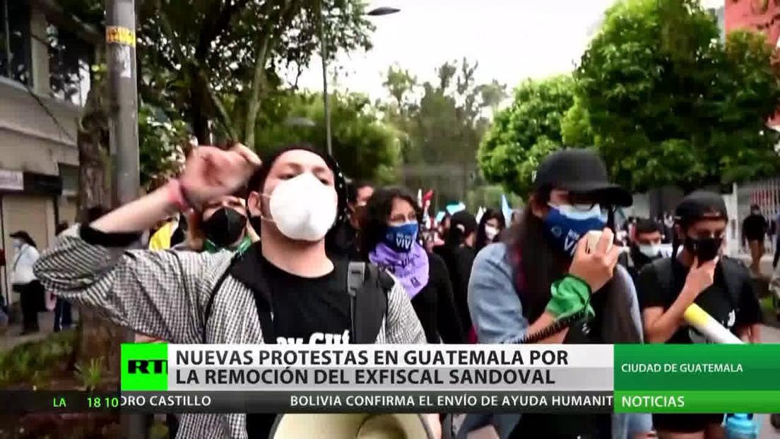 Nuevas protestas en Guatemala por la remoción del exfiscal Sandoval