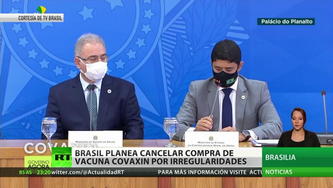 Brasil planea cancelar la compra de vacunas Covaxin por irregularidades