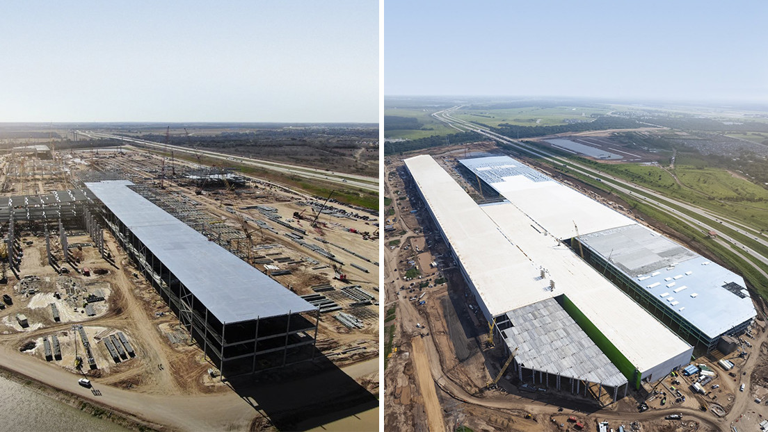 FOTO: El antes y el después en la construcción de la Gigafactory de Tesla en Texas