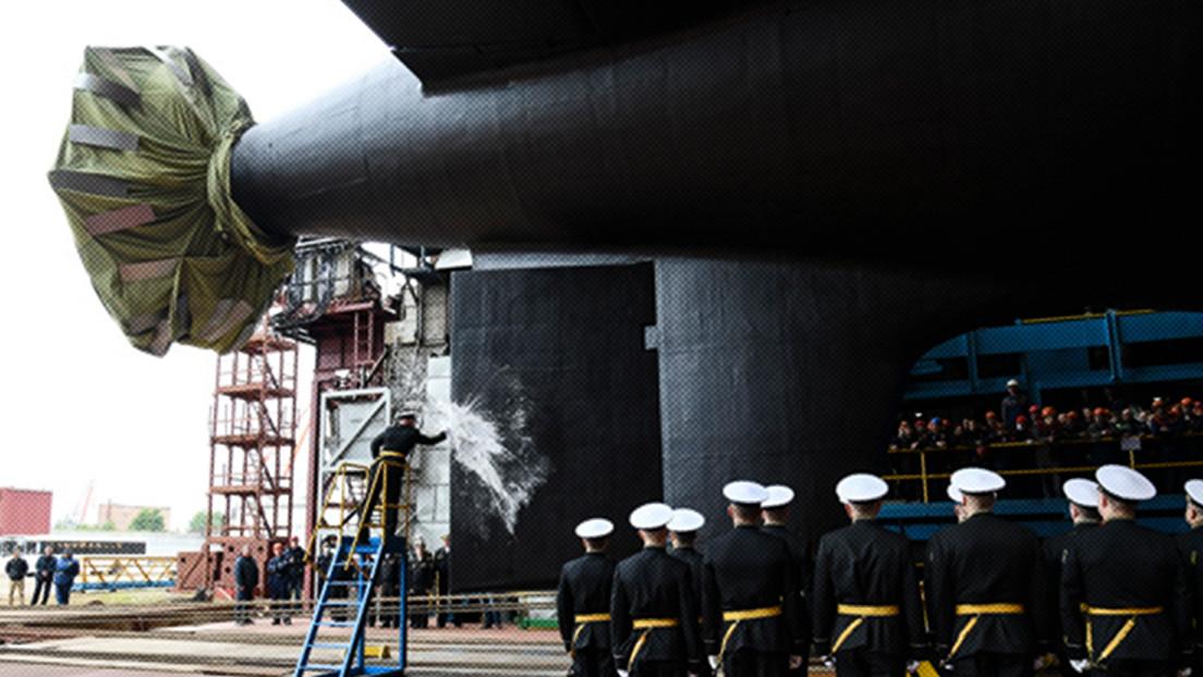 FOTOS: Rusia bota el Krasnoyarsk, submarino nuclear de ataque de cuarta generación