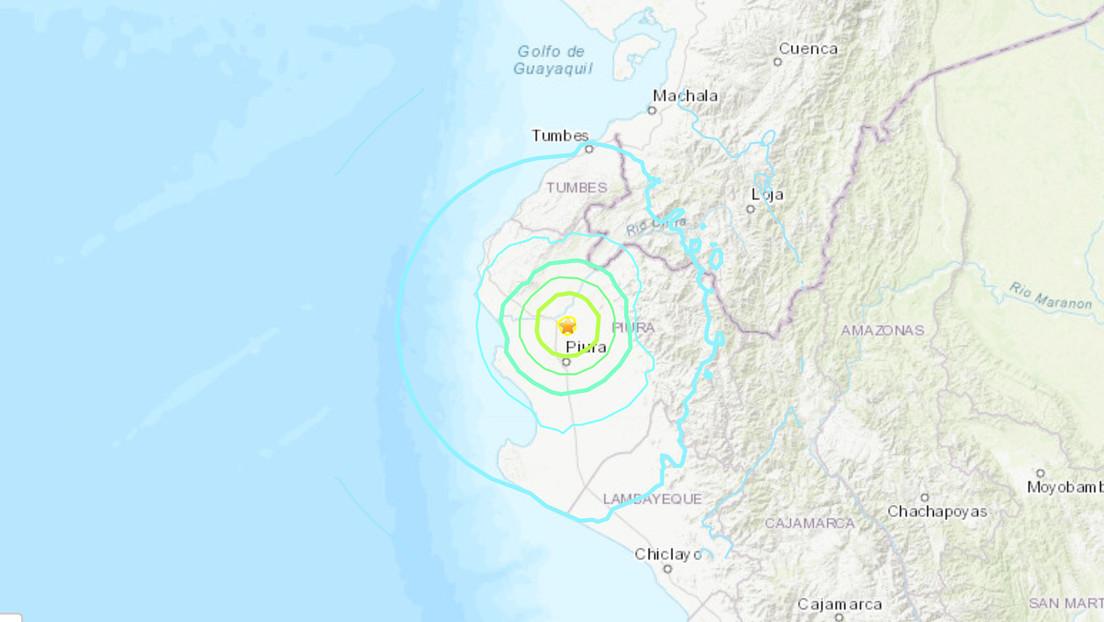 Un sismo de magnitud 6,1 se registra en la frontera entre Perú y Ecuador