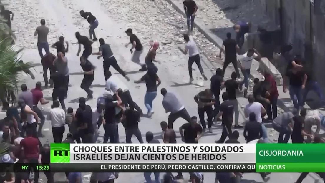 Choques entre palestinos y soldados israelíes dejan cientos de heridos