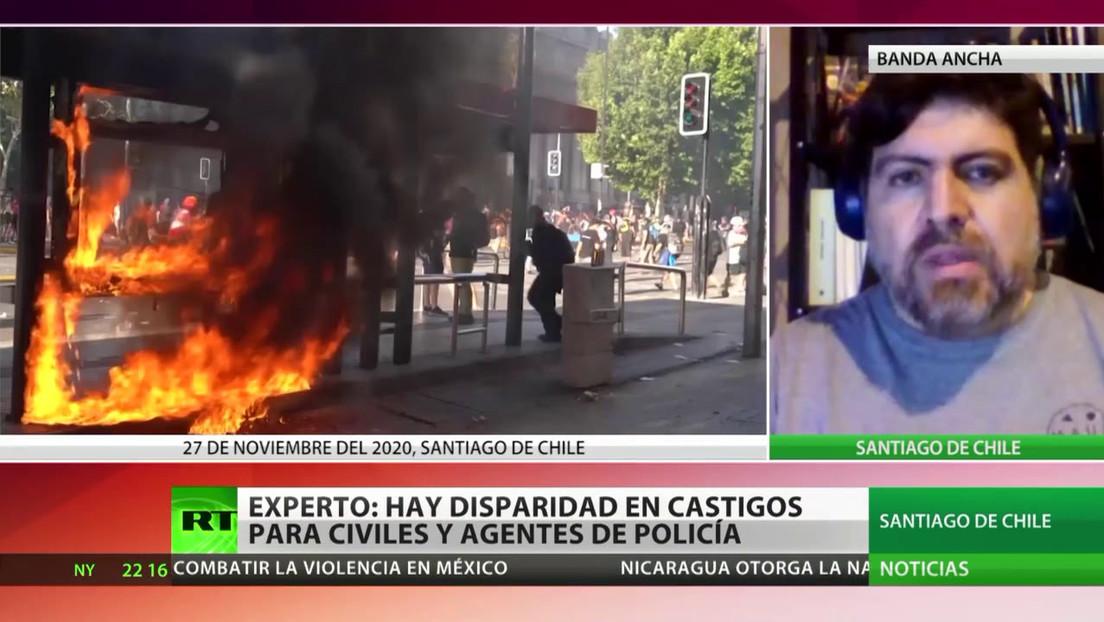 Un experto denuncia la disparidad en castigos para los civiles y los agentes de Policía en Chile