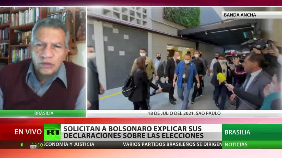 Analista político opina que Bolsonaro quiere reservarse la posibilidad de declarar fraude electoral si obtiene un resultado desfavorable en 2022