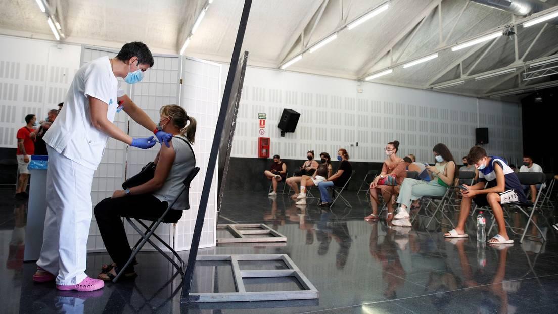 Centro de vacunación contra el covid-19 en Sant Vicenç de Castellet (Barcelona, España), el 6 de julio de 2021.